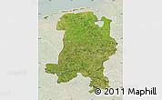 Satellite Map of Weser-Ems, lighten