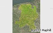 Satellite Map of Weser-Ems, semi-desaturated
