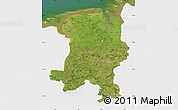 Satellite Map of Weser-Ems, single color outside