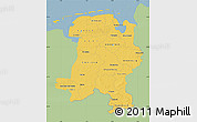 Savanna Style Map of Weser-Ems, single color outside