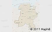 Shaded Relief Map of Weser-Ems, lighten