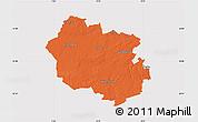 Political Map of Oldenburg, cropped outside