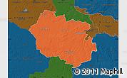 Political Map of Oldenburg, darken