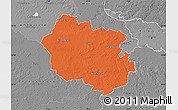 Political Map of Oldenburg, desaturated