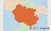 Political Map of Oldenburg, lighten