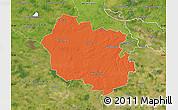 Political Map of Oldenburg, satellite outside