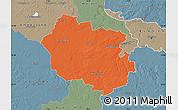Political Map of Oldenburg, semi-desaturated