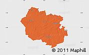 Political Map of Oldenburg, single color outside