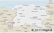 Classic Style Panoramic Map of Weser-Ems