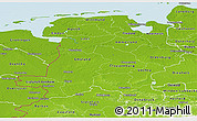 Physical Panoramic Map of Weser-Ems