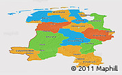 Political Panoramic Map of Weser-Ems, cropped outside