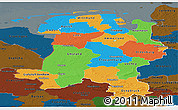 Political Panoramic Map of Weser-Ems, darken