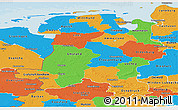 Political Panoramic Map of Weser-Ems