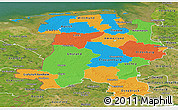 Political Panoramic Map of Weser-Ems, satellite outside