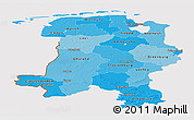 Political Shades Panoramic Map of Weser-Ems, cropped outside