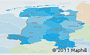Political Shades Panoramic Map of Weser-Ems, lighten