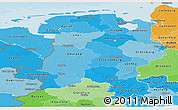Political Shades Panoramic Map of Weser-Ems