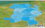 Political Shades Panoramic Map of Weser-Ems, satellite outside