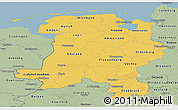 Savanna Style Panoramic Map of Weser-Ems