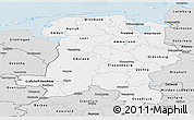 Silver Style Panoramic Map of Weser-Ems