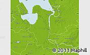 Physical Map of Wesermarsch