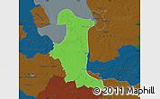 Political Map of Wesermarsch, darken