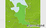 Political Map of Wesermarsch, physical outside