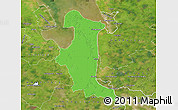 Political Map of Wesermarsch, satellite outside