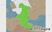Political Map of Wesermarsch, semi-desaturated