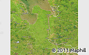 Satellite Map of Wesermarsch