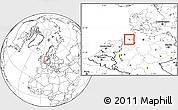 Blank Location Map of Wilhelmshaven