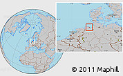 Gray Location Map of Wilhelmshaven