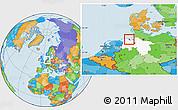 Political Location Map of Wilhelmshaven, highlighted grandparent region