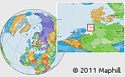 Political Location Map of Wilhelmshaven, highlighted parent region