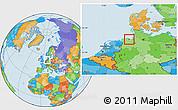 Political Location Map of Wilhelmshaven