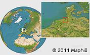 Satellite Location Map of Wilhelmshaven