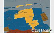 Political Map of Wittmund, darken