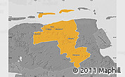 Political Map of Wittmund, desaturated