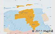 Political Map of Wittmund, lighten