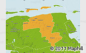 Political Map of Wittmund, physical outside