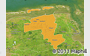 Political Map of Wittmund, satellite outside