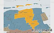 Political Map of Wittmund, semi-desaturated