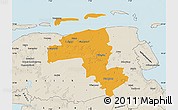 Political Map of Wittmund, shaded relief outside