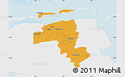 Political Map of Wittmund, single color outside