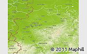 Physical 3D Map of Nordrhein-Westfalen