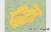 Savanna Style 3D Map of Nordrhein-Westfalen