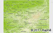 Physical 3D Map of Arnsberg