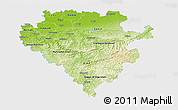Physical 3D Map of Arnsberg, single color outside