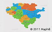 Political 3D Map of Arnsberg, cropped outside