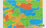 Political 3D Map of Arnsberg
